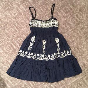 Melissa Odabash Navy Embroidered Coverup/Dress